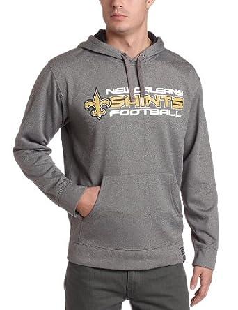 NFL Mens New Orleans Saints Gridiron Hood III Adult Long Sleeve Hooded Fleece... by NFL
