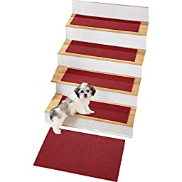Skid-resistant Berber Stair Treads - Set of 4, Brick