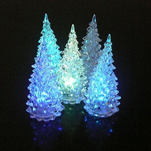VANKER 1Pcs Acrylic Christmas Tree Ramantic LED Night Light Lamp Color Changing Home Ornaments Decoration Christmas Gift - 1