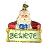 Old World Christmas Believe Santa Glass Blown Ornament