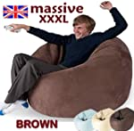 HUGE BROWN MEGA SIZE BEAN BAG 16CUFT...