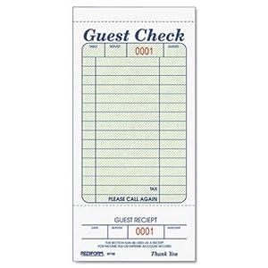 Amazon Com Rediform Guest Check Pad White 3 375 X 7