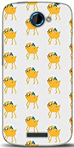 Snoogg Pixel Adventure Designer Protective Back Case Cover For HTC One S