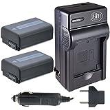 BM Premium NPFW50 Batteries & Charger for Sony ILCE-QX1, Alpha 7, A7R, A7R II, A7S, A7S II, A7II, A3000, A5000, A5100, A6000, NEX-3, NEX-C3, NEX-F3K, NEX5, NEX5K, NEX5N, NEX5T, NEX5TL, 2 Pack