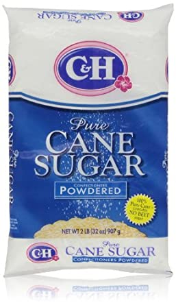 C&H Pure Cane Powdered Confectioners Sugar, 32 Oz