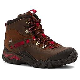 Merrell Women\'s Chameleon Shift Traveler Mid Waterproof Hiking Boot, Cafe, 8.5 M US
