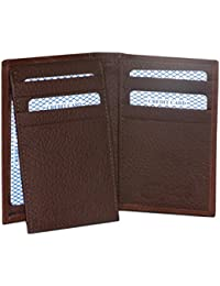 Style98 Brown Designer Genuine Leather Traveller Case Card Holder Wallet With 12 Card Slots For Men And Women