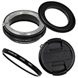 Fotodiox M-Reverse-62-Nikon-Kit RB2A 62MM Macro Reverse Ring Kit with G and DX Type Lens Aperture Control, 52MM Lens Cap and 52MM UV Protector Fits Nikon