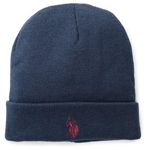 us-polo-assn-mens-solid-cuff-beanie-navy-one-size