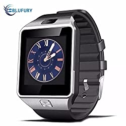 Blufury BLFDZ0916SB Smartwatch Phone -Tarnish/Black