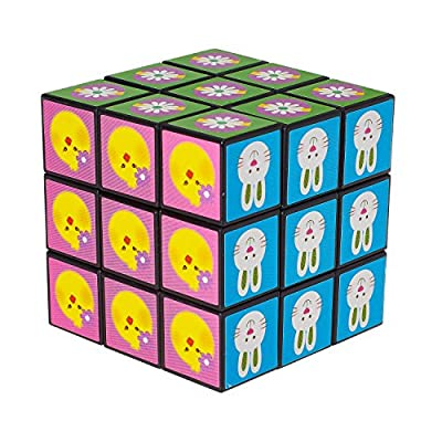 100 Toy Filled Easter Eggs with Easter Icon Cube Toy by Prextex