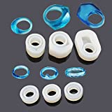 Yalulu 6Pcs Assorted DIY Ring Silicone Mold Jewelry Pendant Rings Resin Casting Mould for DIY Craft Making (Color: White, Tamaño: 17mm)