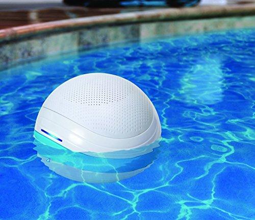 Wl Waterproof Wireless Bluetooth Floating Sound System - White