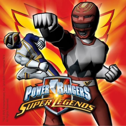 "Power Rangers Servietten ""Power Rangers - Super Legends"" red"