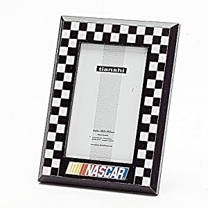 Godinger Nascar 4 by 6-Photo Frame, Black and  White
