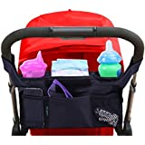 #1 Best Quality Lebogner Luxury Stroller Organizer, Stroller Accessories, Universal Black Baby Diaper Stroller Bag, Stroller Cup Holder, Fits Most Strollers.