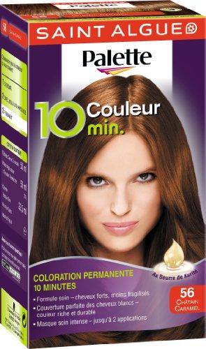 3 saint algue palette coloration permanente 10 minutes chtain caramel 56 - Palette Coloration Cheveux
