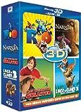 echange, troc Coffret 3D active : Rio + L'Age de glace 3 + Le monde de Narnia 3 + Les voyages de Gulliver [Blu-ray]