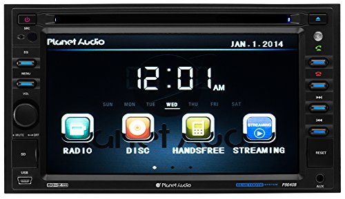 Planet Audio P9640B Double-Din 6.2 inch Touchscreen DVD Player, Receiver, Bluetooth, Wireless Remote (Dvd Player For 2009 Dodge Journey compare prices)