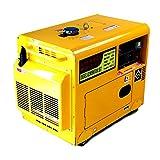 防音型 ディーゼル発電機 最大6.0kVA 13馬力200V100V単相切替同時 (自宅配送) 燃費 非常用 発電 軽油