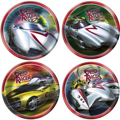Speed Racer Dessert Plates 8ct