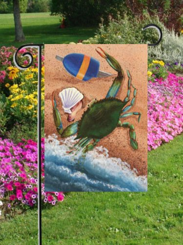 Maryland Blue Crab Beach Ocean Buoy Garden Flag RETIRED