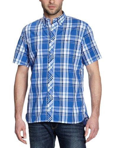 Tommy Hilfiger uomo Button Down Maniche Corte Camicia Casual Multicoloured - Mehrfarbig (422 VENCE BLUE/ MULTI) 38