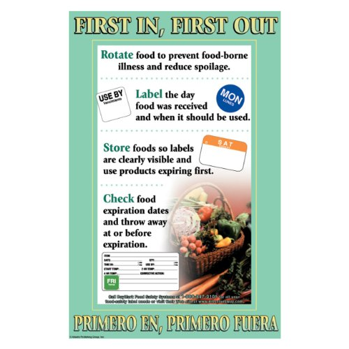 """Daymark 112100 Laminated Workplace Safety And Educational Poster, First In First Out, 11"""" Width X 17"""" Height front-130861"""
