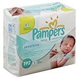 Pampers Sensitive Wipes, 3 refills 192 wipes