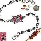 Indiangiftemporium Colorful Charming Silver Rakhi Gift To Brother Rakhi Raksha Bandhan Gift Band Moli Bracelet...