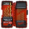 Milwaukee 48-89-1105 1/16-to-1/2-Inch Titanium-Coated 20-Piece Twist Drill Bit Assortment