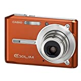 Casio Exilim EX-S600 6MP Digital Camera with 3x Optical Zoom (Orange)