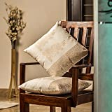 ExclusiveLane Wooden Blocked Printed Cushion Cover -Set Of 2 (16*16) Inch
