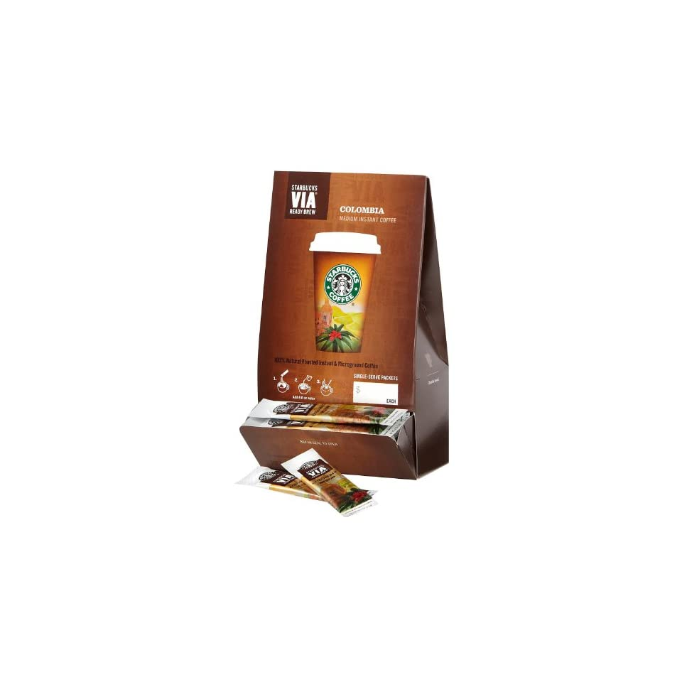 Starbucks VIA Ready Brew Columbia Coffee, 3 3 g Packages, 50