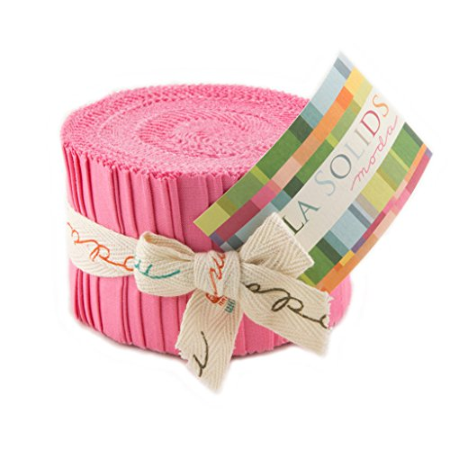 Bella Solids 30s Pink Jr Jelly Roll (9900JJR 27) by Moda House Designer for Moda