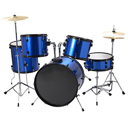 fds-drum-kit-full-size-5-piece-all-in-one-drum-set-cymbals-stand-w-stool