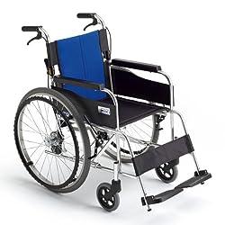 車椅子 ミキ 自走式車いす 座幅40cm 5色 軽量 ノーパンク BAL-1 (ブルー) [ヘルスケア&ケア用品] [ヘルスケア&ケア用品]