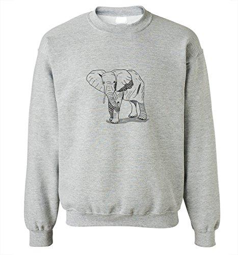 mens-sweatshirt-with-hand-drawn-elephant-illustration-print-x-large-grey