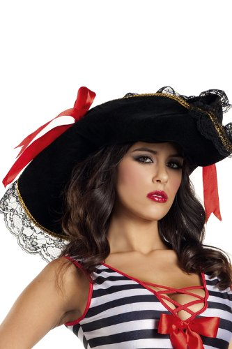 Costume Adventure Women's Premier Pirate Vixen Costume Hat