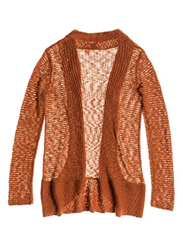 Roxy Juniors Sea Of Love Knit Cardigan Sweater, Ginger Bread, X-Small