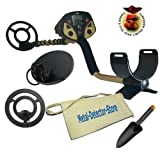 "Fisher F2 Metal Detector W/4"", 8"" & 10"" Coils, Canvas Apron, Treasure Trowel"