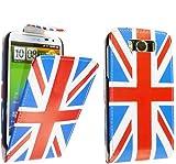 FOR HTC SENSATION XL G21 STYLISH ENGLAND FLAG UNION JACK PRINT LEATHER FLIP CASE COVER POUCH