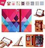 Apple iPad Mini 4 Case Cover, FYY [Super Functional Series] Premium Leather Case Stand Cover with Card Slots, Note Holder, Quality Hand Strap and Elastic Strap for Apple iPad Mini 4 Pattern 15 (With Auto Wake/Sleep Feature)