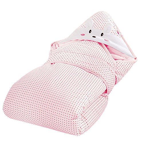 Baby Wrap Swaddle Blanket 3 in 1 Built In Removable Cushion for Neck and Back Support 100% Cotton Feather Light Hypoallergenic Pink - 1