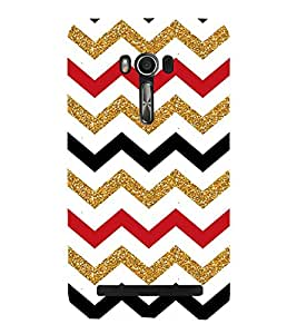 Colorful Zig Zag Pattern Cute Fashion 3D Hard Polycarbonate Designer Back Case Cover for Asus Zenfone Go ZC500TG (5 Inches)
