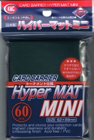 KMC Sleeves MHM1614 Deck Protectors Mini Hyper Green, Pack - 60