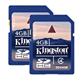 Kingston Technology SD4/4GB-2P - Kingston memory 4GB SDHC Class 4 Flash Card Twin Pack (2pcs)