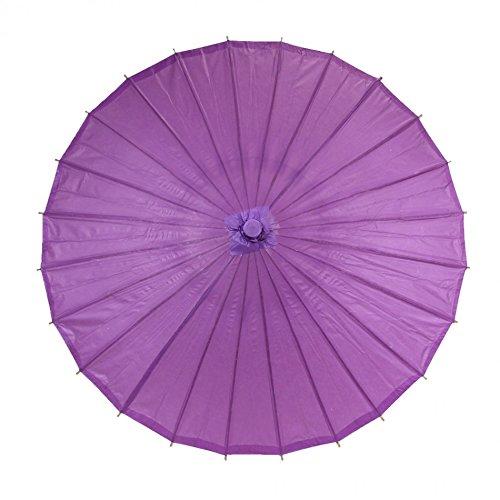 Koyal Color Paper Parasol, 32-Inch, Plum Purple front-999493