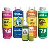 General Hydroponics pH 7.0 Calibration Solution 8 oz, pH 4.01 Calibration Solution 8 oz, pH Control Kit