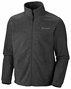 Columbia Men's Steens Mountain Full Zip 2.0 Fleece Jacket, Charcoal Heather, X-Large
